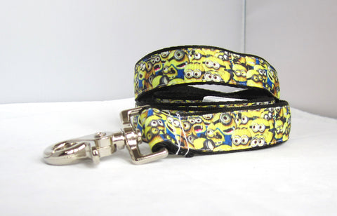 "1"" 4ft  and 6ft yellow minions dog leash"