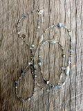 Silver Mixed Gemstone Necklace