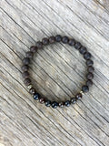 Ebony & Cats Eye Scapolite Stretch Bracelet