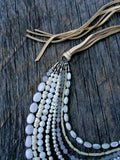 White Gemstone Erica Necklace