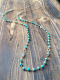 Sleeping Beauty Turquoise and Gold Layering Necklace