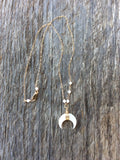 Mother of Pearl Horn and Gold Necklace