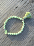 Peridot Nugget and Lemon Chrysoprase Stretch Bracelet