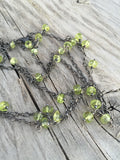 Peridot Dangles on Oxidized Silver Necklace