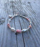 Pink Opal and Pearl Bracelet