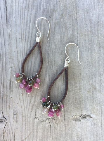 Tourmaline Gemstone Boho Earrings