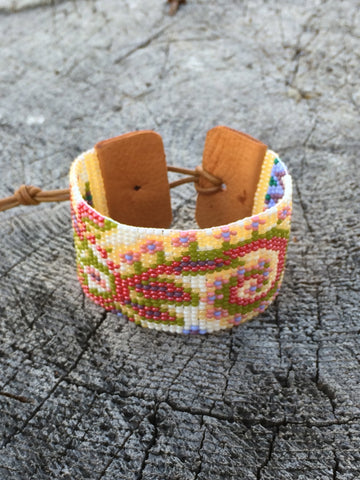 Tapestry Seed Beaded Cuff