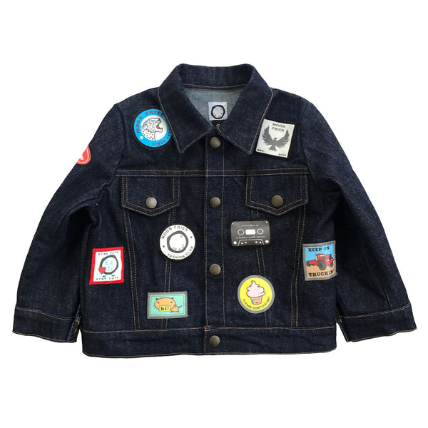 Patches Raw Denim Jacket