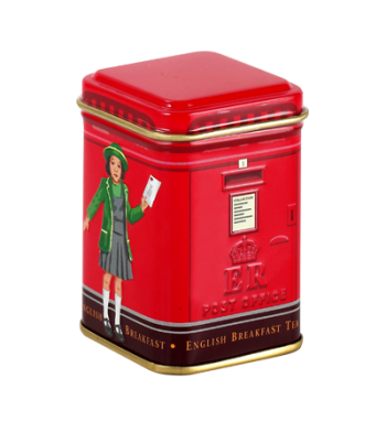 Ahmad Tea Round Postbox Caddy