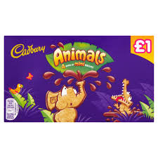 Cadbury Animals Bags of Mini Biscuits 4 x 22g
