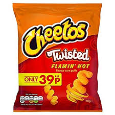 Cheetos Twisted Flamin' Hot 30g BBD 23/1/21