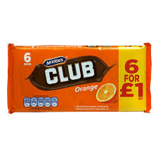 Jacob's Club Orange 6 pack