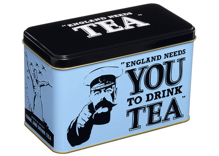 "New English Teas - ""England Needs You to Drink Tea"" caddy"
