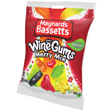 Maynards Bassetts Wine Gums Merry Mix Bag 165g