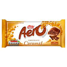 Nestle Aero Caramel Chocolate Sharing Block 90g