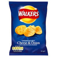 Walkers Cheese & Onion 32.5g BBD 10/4/21