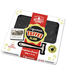 Walker's Nonsuch Liquorice Toffee Traditional Slab 400g