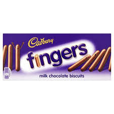 Cadbury Chocolate Fingers 114g BBD 18/4/20