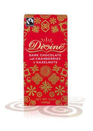 Divine Dark Chocolate with Cranberries & Hazelnuts 100g