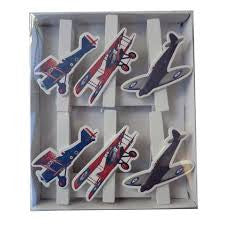 Large Vintage Plane Wooden Pegs