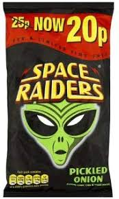 Space Raiders Pickled Onion 25g BBD 28/11/20