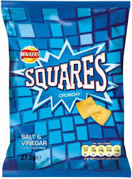 Walkers Squares Salt and Vinegar 40g  BBD 31/10/20