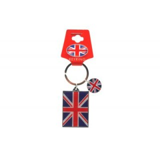 Union Jack Rectangle Keyring