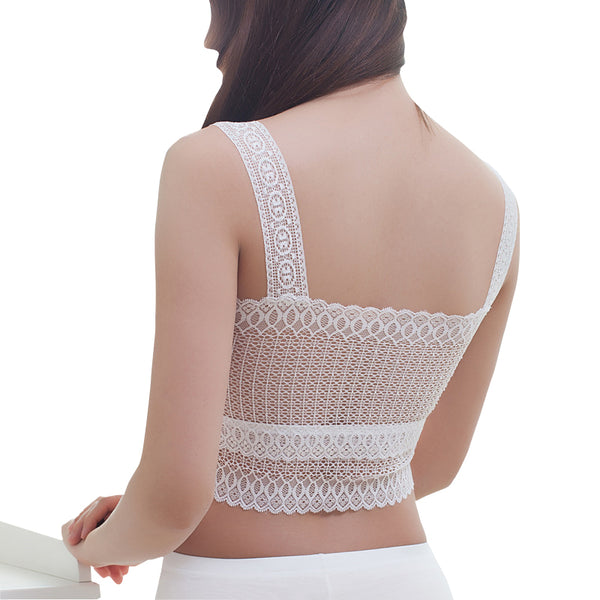 ItspleaZure  White Bras Fashion Women's Lace Sexy GirlCrop Tops for  at itspleaZure