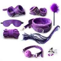 ItspleaZure Designer 9 Piece Bondage Kit - Purple