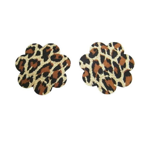 ItspleaZure Self Adhesive Cheetah Print Flower Shape Nipple Covers for  at itspleaZure