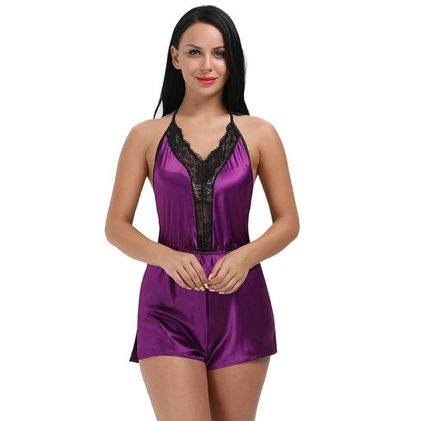 Buy ItspleaZure Purple 1 Piece Back-Naked Lace Design BabyDoll for  at itspleaZure