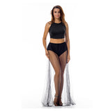 ItspleaZure Glitter Mesh Coverage Two Piece Dress Black for  at itspleaZure