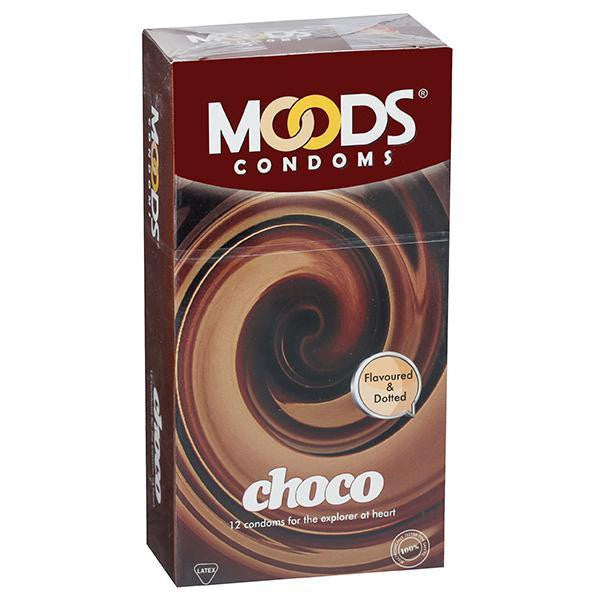 Moods Condoms Choco Pack of 12 for  at itspleaZure