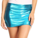 ItspleaZure Women's Hot Stamping tight hip mini skirt-Light Blue for  at itspleaZure