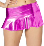 ItspleaZure women's Flared Wet look Mini Skirt - Pink for  at itspleaZure