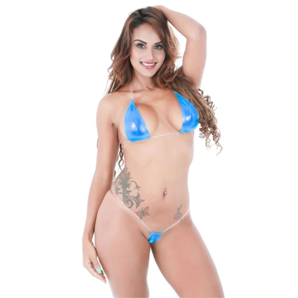ItspleaZure women Sexy Triangular Shaped Bikini - Light Blue for  at itspleaZure