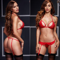 ItspleaZure Red Women Sexy Lingerie Lace Babydoll With G-String at itspleaZure