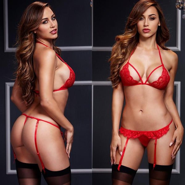 Buy ItspleaZure Red Women Sexy Lingerie Lace Babydoll With G-String for  at itspleaZure