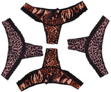 ItspleaZure  Women's Leopard Print with bow ThongRegular Fit Underwear (Pack Of 4) for  at itspleaZure