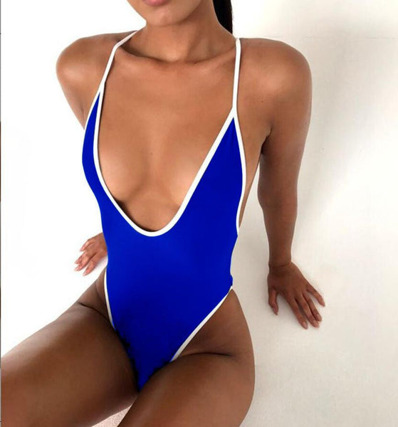 ItspleaZure High Cut Backless Sexy Hot Bikini - Blue for  at itspleaZure