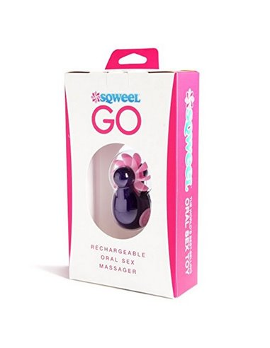 Sqweel Go Rechargeable Oral Sex Simulator(Purple) for  at itspleaZure