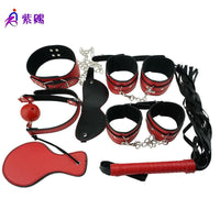 Buy ItspleaZure 7 Piece Faux Leather Bondage Kit- Red & Black for  at itspleaZure