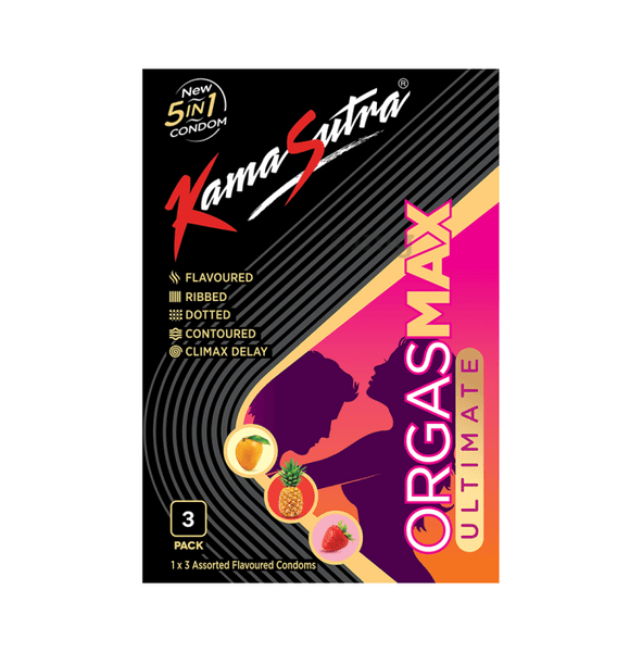 Kamasutra Orgasmax Ultimate 5 in 1 Condom Assorted Pack Of 3
