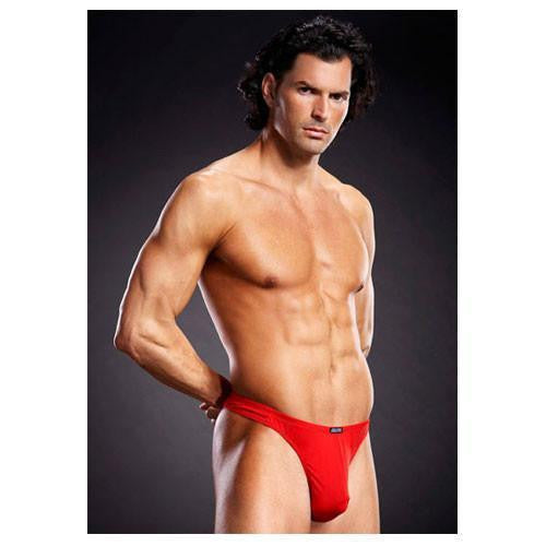Buy Microfiber Thong - Red for 499.00 at itspleaZure