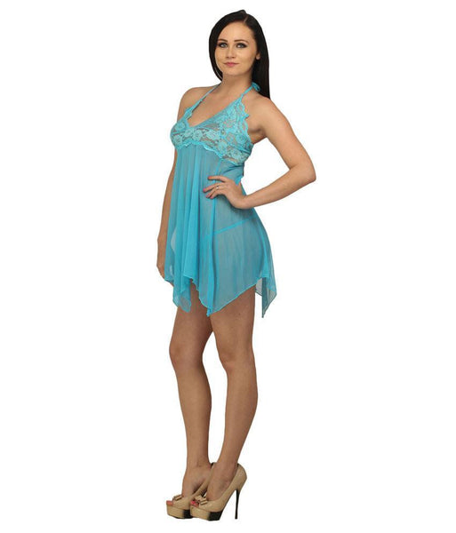 Buy ItspleaZure Amorous Halterneck Babydoll (Oceanic Blue) for  at itspleaZure