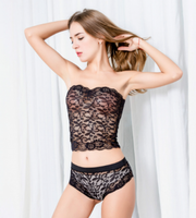 ItspleaZure Women Sexy Corset Lace Set Black for  at itspleaZure