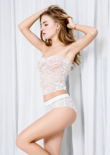 ItspleaZure Women Sexy Corset Lace Set White for  at itspleaZure