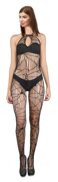 ItspleaZure Body Stocking ItspleaZure Spider Net Black Bodystocking