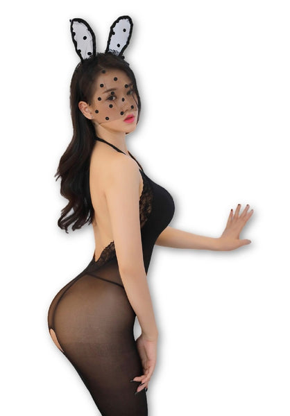 ItspleaZure Body Stocking ItspleaZure  Women's Body Stockings & Free Thong (Freesize_Q2MBS034BC_ARBT)