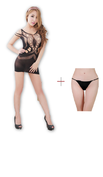 ItspleaZure  Women's Body Stockings & Free Thong (Freesize_Q2MBS042_ARBT) for  at itspleaZure